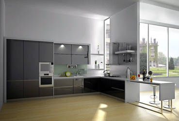 Simply Modern kitchen by dutdee