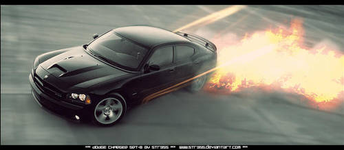 DODGE Charger SRT-8 on Fire by Str3ss