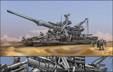 Armored Railway Gun DbV 'EBER' by Shrinecat