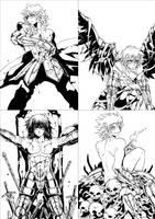 four goldsaints by zaionic