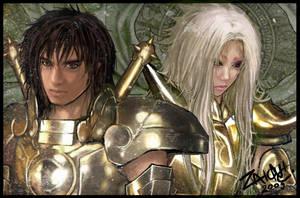 Dohko and Shion by zaionic