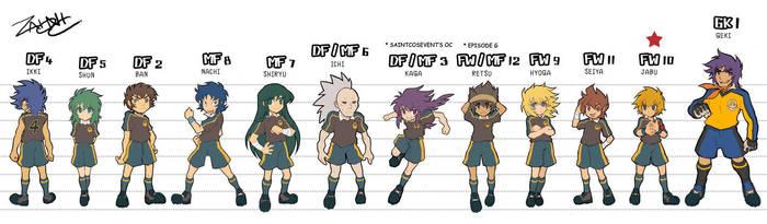 Saint Seiya Soccer-Bronze Team by zaionic