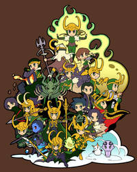 :Marvel Villains Design Contest: We Are Loki by zaionic