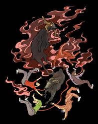 Ukiyoe Blood Goat by zaionic