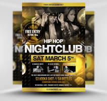 Hip Hop Party Flyer Template by quickandeasy1