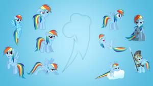 Rainbow Dash Wallpaper Collab by EqFAzrael