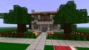 Minecraft House by KyzKrus