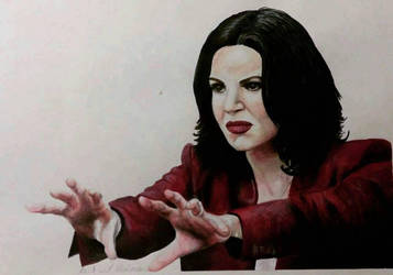 lana parrilla the evil queen from once upon a time by illymalavasi