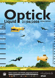 optick party poster by yozzo