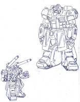 Soviet Gundam by Darcad