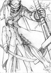 Yu Narukami pencil sketch by Darcad