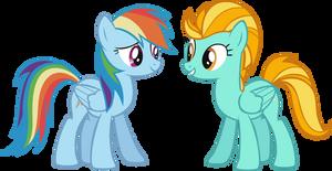 Rainbow Dash and Lightning Dust by Vector-Brony