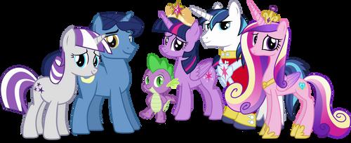 Twilight Sparkles Family by Vector-Brony