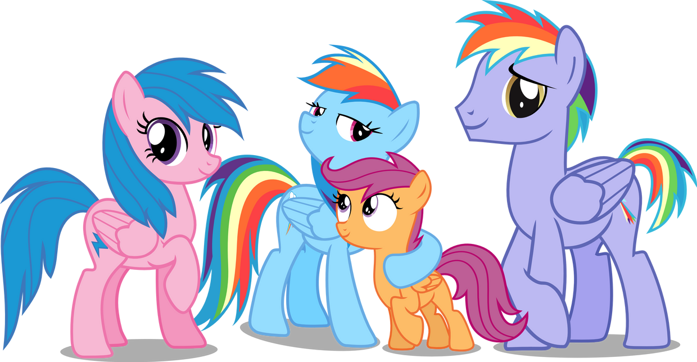 Rainbow dash family photo