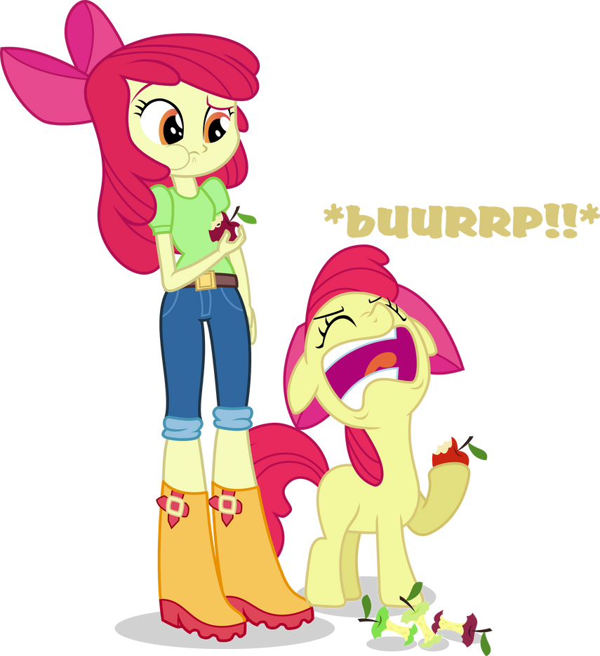 Applebloom And Applebloom By Vector Brony On Deviantart