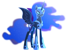 Nightmare moon in the moonlight by Vector-Brony