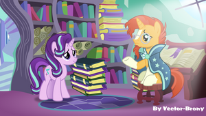 Starlight glimmer meets Sunburst again by Vector-Brony