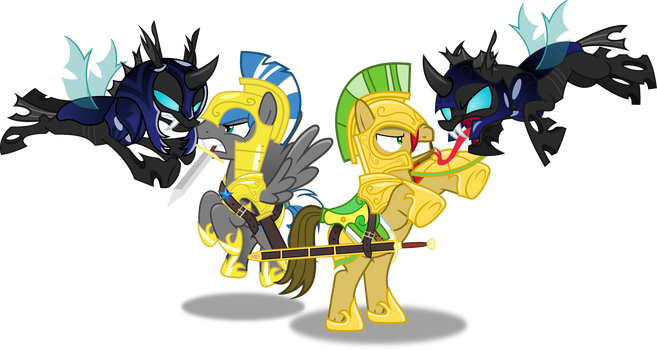 Cloudzapper and Vector by Vector-Brony