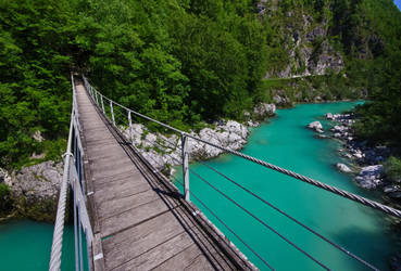 Crossing the smaragd river by ToniX