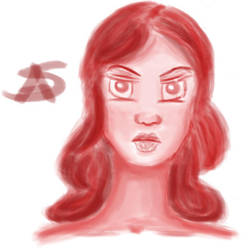 Angry Girl Painting by SirenAnimations