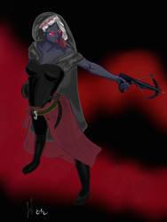 Crossbow drow assassin by LiaVilore