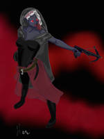 Crossbow drow assassin by LiaVilore