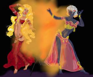 Lovely dark belly dancers by LiaVilore