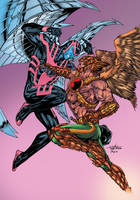 Archangel Vs Hawkman Colour Jam by roncolors