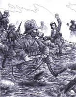Germans being gassed by AngusBurgers