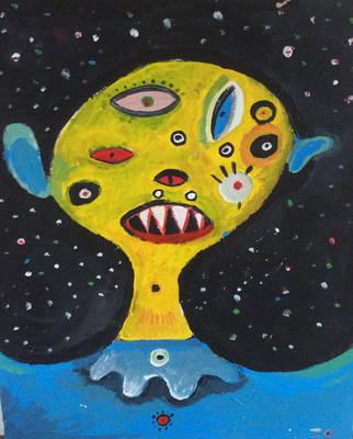 space alien by SittingBuddha