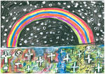 Rainbow at night by SittingBuddha