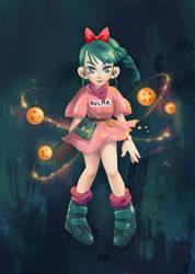Bulma (Character Design Challenge) by MAliceMiisha