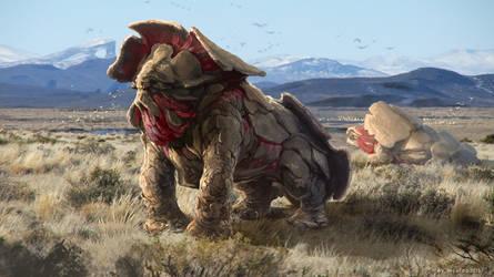 Creature design by Rukkits