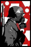German Soldier with Mask by DerRaffer