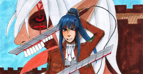 Cpl. Kanda and titan Allen by Aomi-Kaien