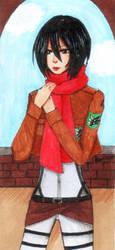 Mikasa by Aomi-Kaien