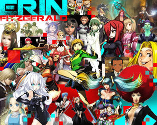 My Video Game Characters up to 2012 by PiranhaMae
