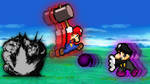Mario vs. Black Mario by SuperShadeMario