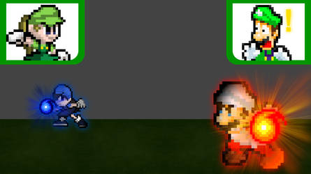 Mario vs. Kuma (Sprite Ver.) by SuperShadeMario