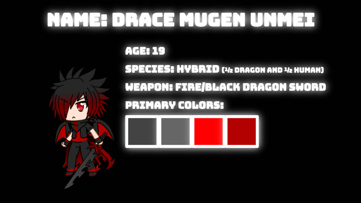 Drace Reference Sheet by SuperShadeMario