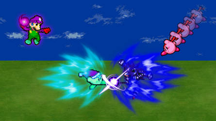 | AT: Me, Mint, and Kirby vs. Mecha Sonic!! | by SuperShadeMario