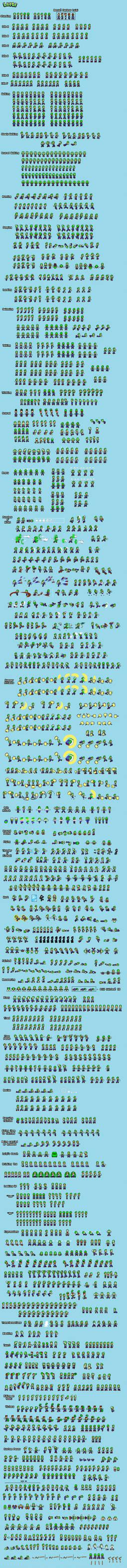 Luigi (TCH Palette) Spritesheet by SuperShadeMario