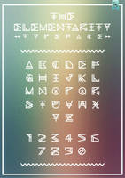 The Elementarity Typeface Poster by Alexgorilla