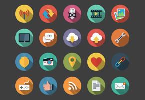 Web Flat Icons bundle by Alexgorilla