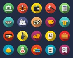 Finance Flat Icons by Alexgorilla