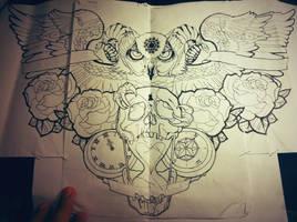 chest tattoo by jonathanmartel08