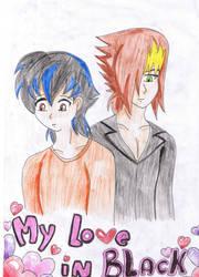 My love in Black portada by aomehigurashi258