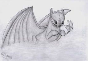 Baby Night Fury in water by HiccToothFan