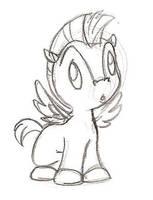 Baby Pegasus Sketch by Spirit-of-Twilight