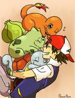 Pokemon starters by PamziPam